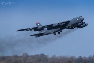美军B52H战略轰炸机模拟对俄首都实施核打击